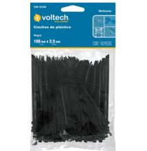 Kábelkötegelő, fekete, 100x2,5mm, 100db/cs. (CIN-1810N)