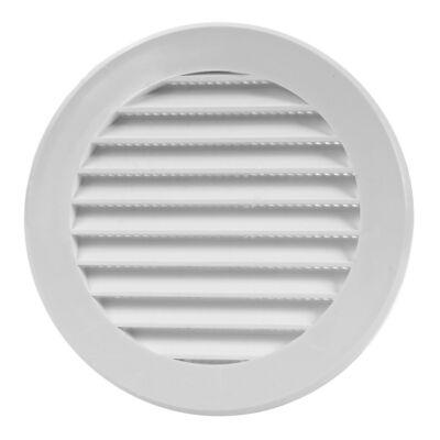 Műanyag kerek szellőzőrács, fehér , VR100