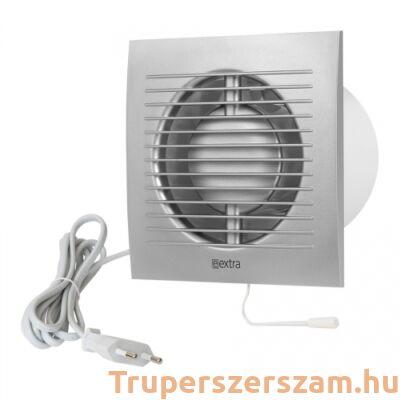 E-Extra ventilátor vezetékkel és kapcsolóval, ezüst