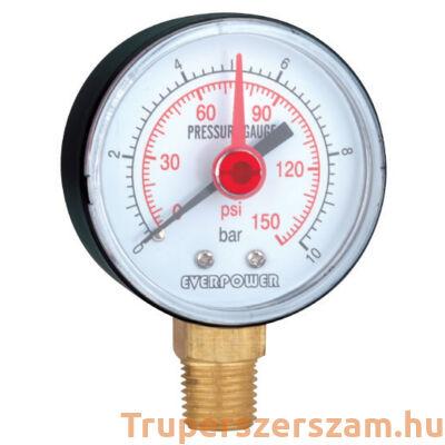 Nyomásmérő, alsó 10 bar