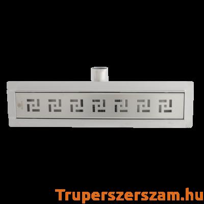 Rozsdamentes zuhanyfolyóka - square 80*7 cm