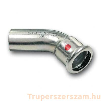Szénacél press könyök 45°KB 28 mm