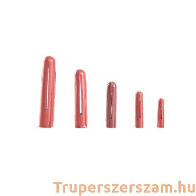 Műanyag tipli, szögletes 6 mm